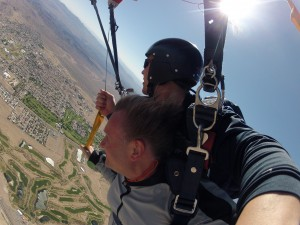 Steering the parachute