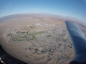 Flying over Boulder City, just southeast of Las Vegas