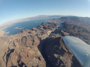 Enjoying beautiful views of Lake Mead and Hoover Dam
