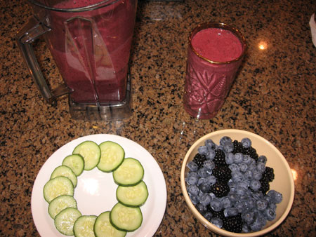 Raw food diet day 13 breakfast