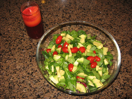 Raw food diet day 15 lunch