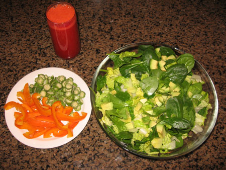 Raw food diet day 16 lunch