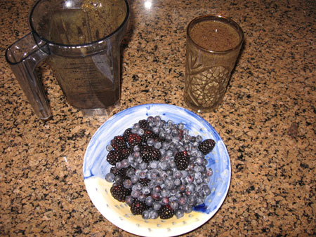 Raw food diet day 17 dinner