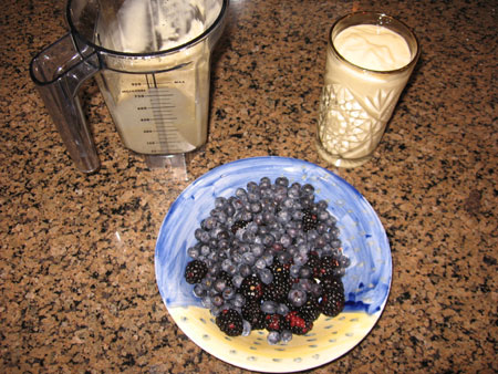 Raw food diet day 18 breakfast