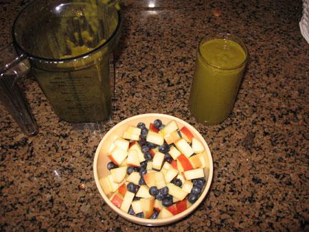 Raw food diet day 19 breakfast