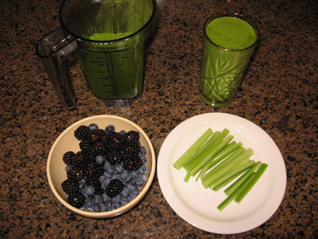 Raw food diet day 24 breakfast