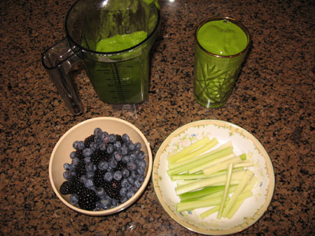 Raw food diet day 25 breakfast