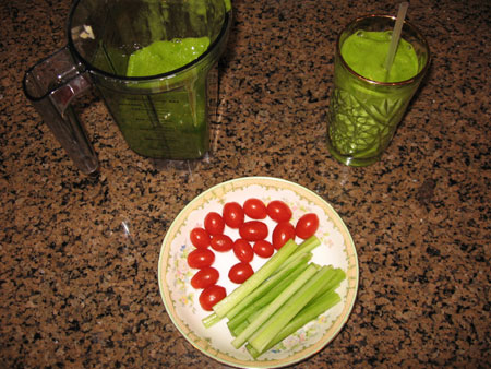 Raw food diet day 25 lunch