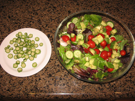 Raw food diet day 28 lunch