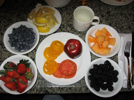 Raw food diet day 3 breakfast