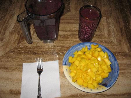 Raw food diet day 4 dinner