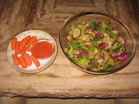 Raw food diet day 5 lunch