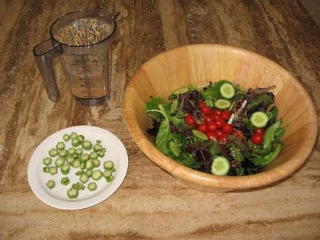 Raw food diet day 6 lunch