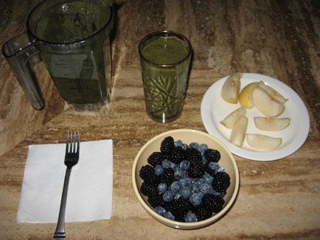 Raw food diet day 7 breakfast