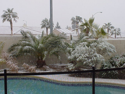 Snowing in Las Vegas