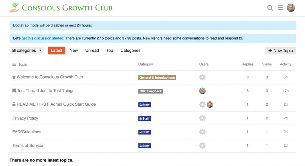 Conscious Growth Club